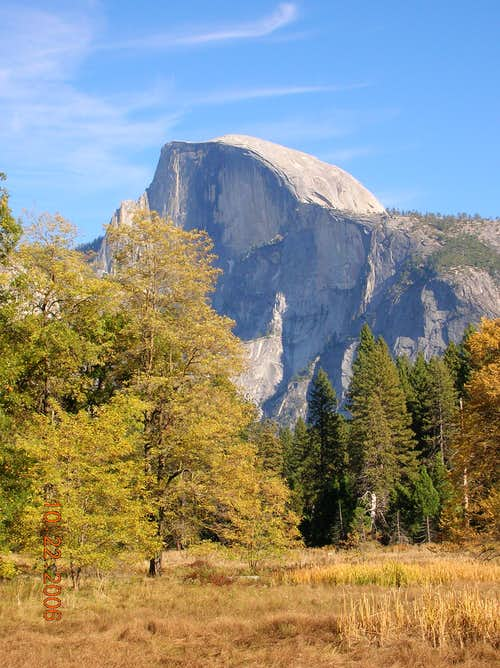 Half Dome in fall
