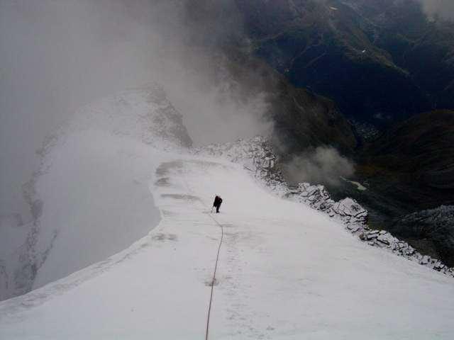 Last snow crest to the summit