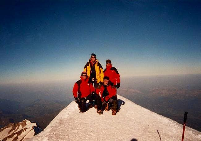 On top of Mont Blanc 28 Aug...