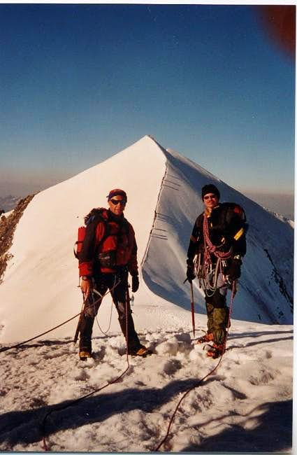 On the ridge during the...