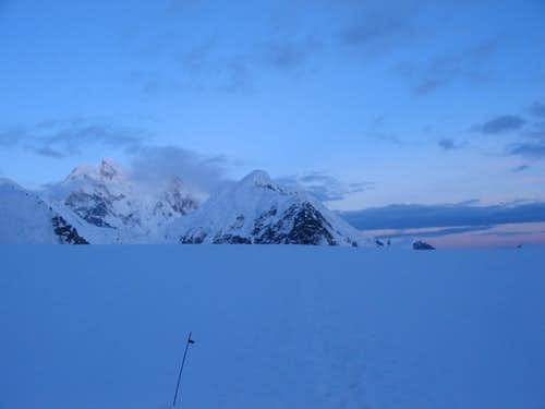 Midnight on the lower glacier