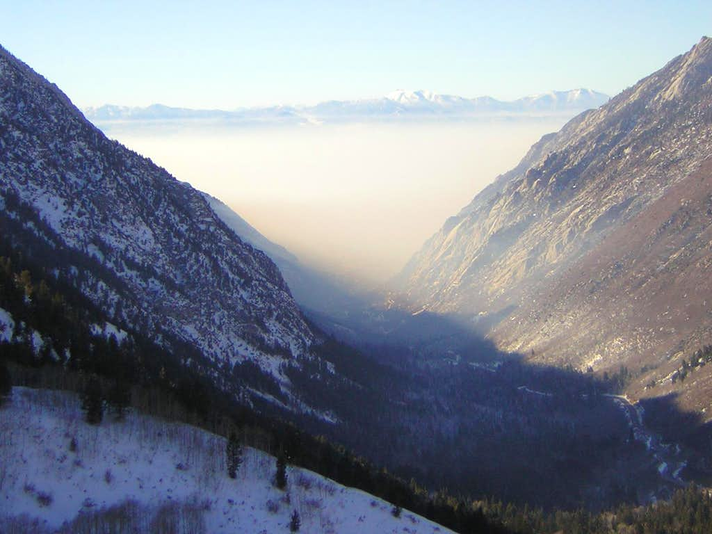 Inversion invades Little Cottonwood Canyon