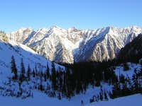 Cottonwood Ridge as seen from above Red Pine Lake