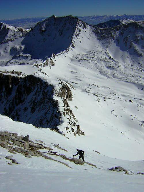 Joe B descends the Pfeifferhorn