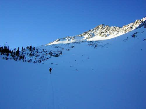 Snowshoeing up to the Alpine Ridge