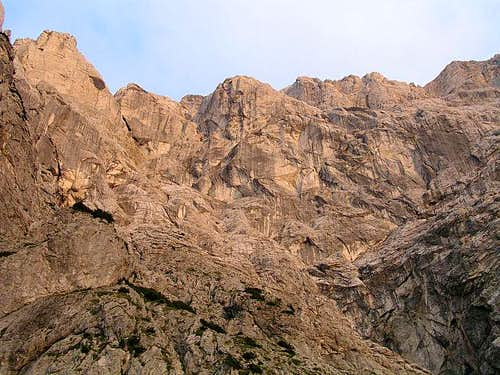 Hochtor north wall in the...