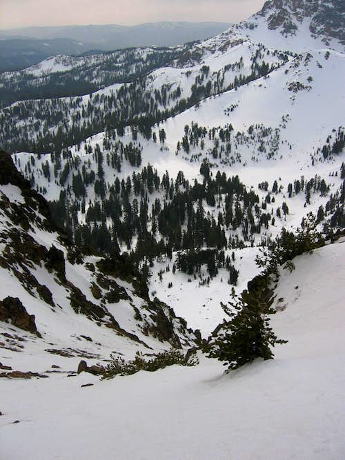 Looking down the SW Face