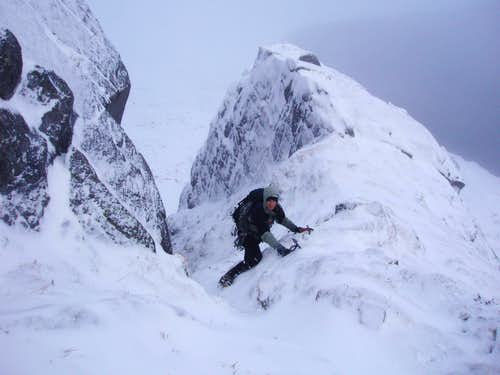 Central Buttress - entrance gully