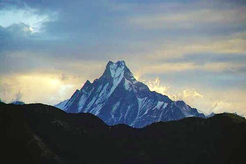 Machhapuchare viewed at...