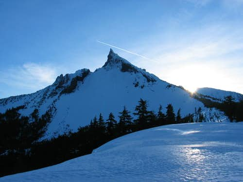 Sunrise on Mount Thielsen