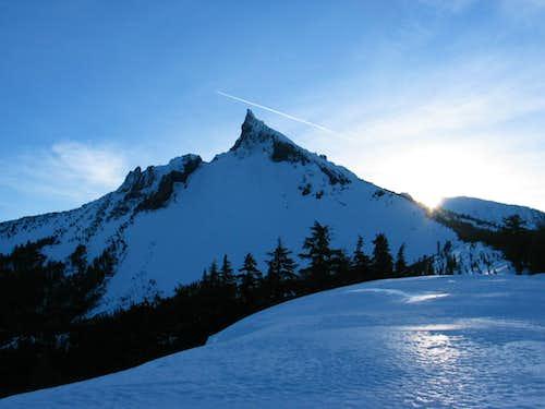 Sunrise on Mount Thielsen