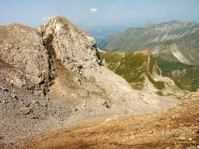 Comb under the summit of the...