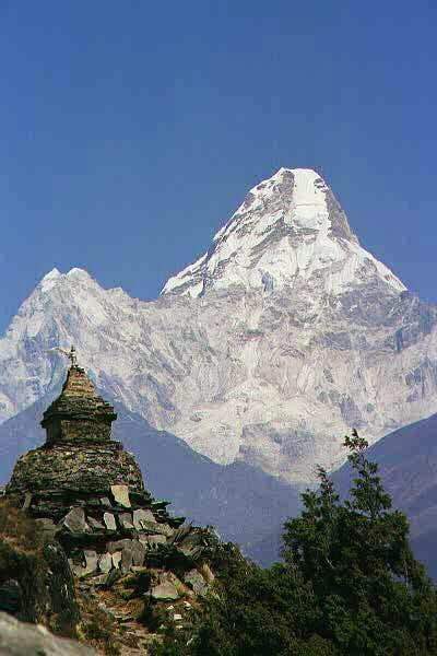 Ama Dablam viewed from just...
