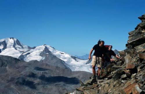Just below the summit....
