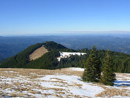 Looking west from the summit of Marys Peak