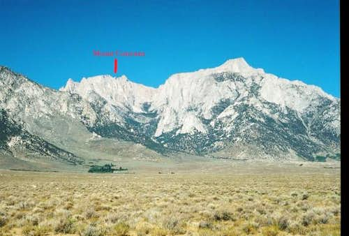 Mount Corcoran can be seen in...