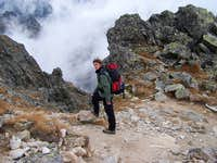 descend from Slavkovsky stit