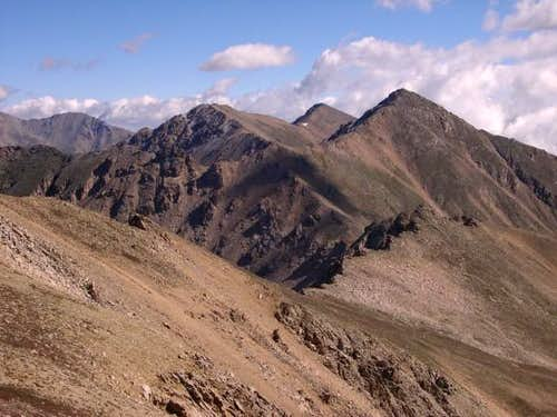 Casco Peak (13,908-ft) on the...