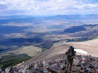 On ridgeline, Wheeler Peak