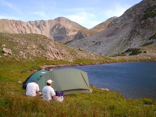 Campsite at Island Lake...