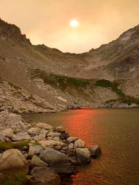 Sunset at Island Lake...