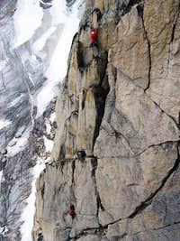 Climbers on Paddle Flake