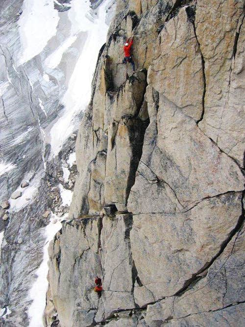 Climbers on Paddle Flake
