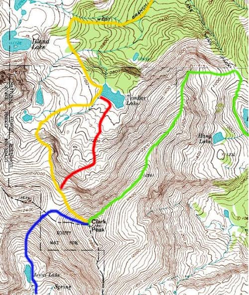 Map of Clark Peak with...