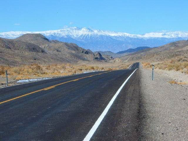 Approaching the White Mountains from Nevada