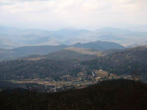 Sky Valley, GA from Summit