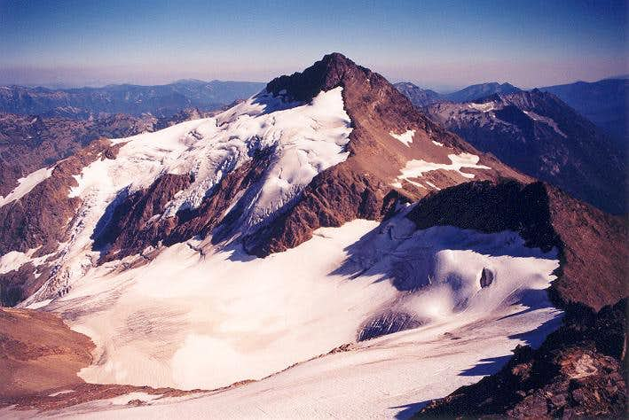 Clark Mountain and the upper...