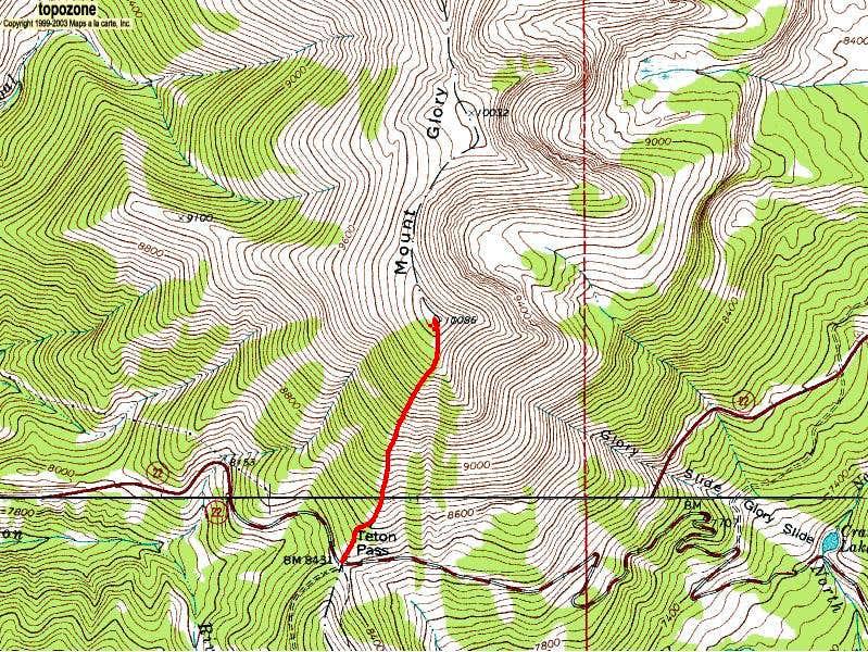 Mount Glory from Teton Pass