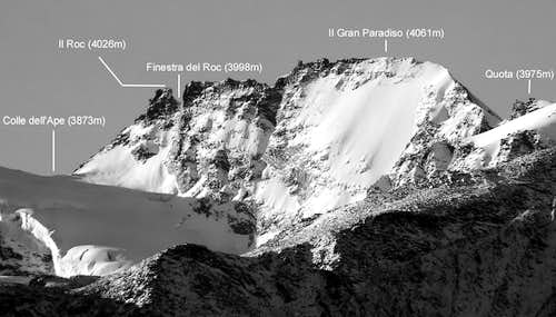 Il Roc and Gran Paradiso (east side)