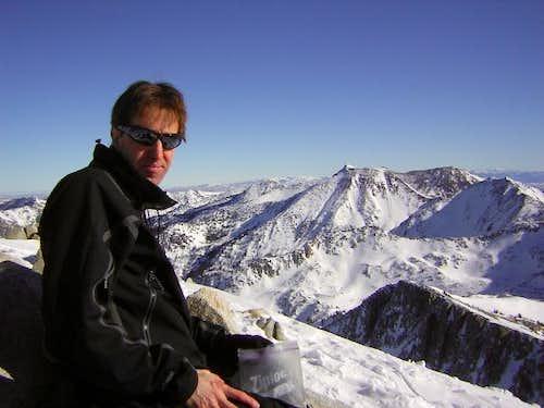 Joseph Bullough on summit of Pfeifferhorn
