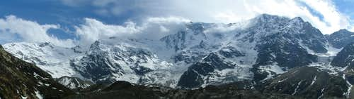 Monte Rosa eastface from Belvedere
