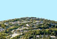 Rocky summit of Catamount....
