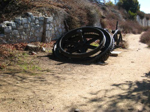 Remnants of Mt. Lowe Railway on Echo Mtn.