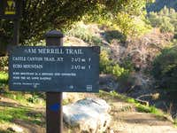Beginning of Lower Sam Merrill Trail