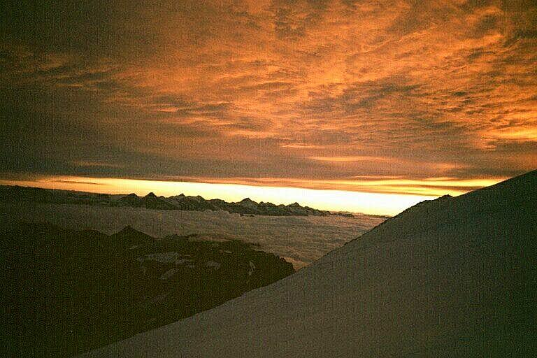 The Pennine Alps at sunrise