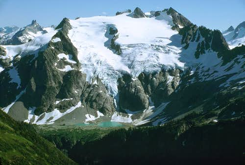 Le Conte Glacier seen from Spider-Formidable Col