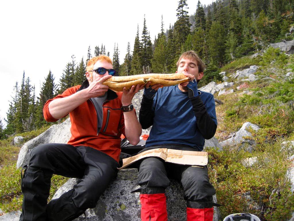 Most important gear: Giant Sandwich!