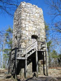 Observation Tower built on the summit