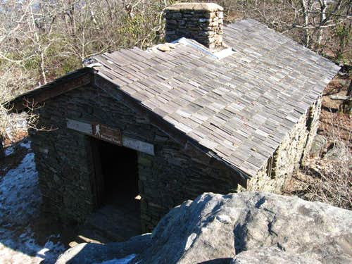 Blood Mountain Shelter from Abov