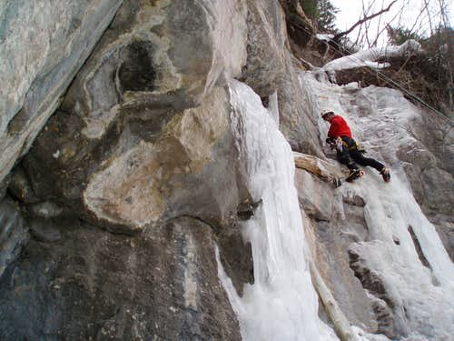 Following an Ice Route in Vail