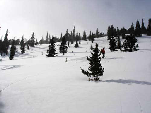 Skiing the slopes of Meadow Mtn