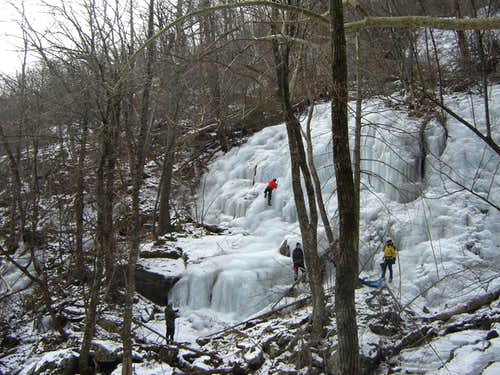 Whiteoak Canyon - Ice Climbing