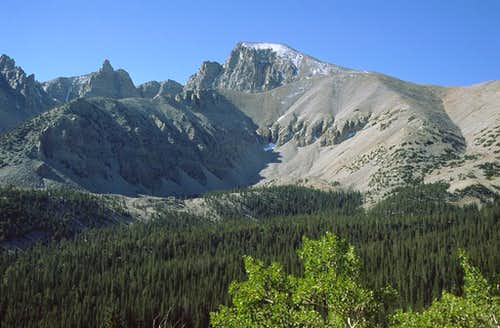 Wheeler Peak from the trail
