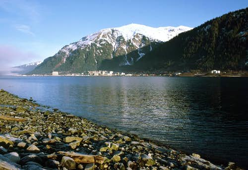 Mt. Juneau seen across Gastineau Channel