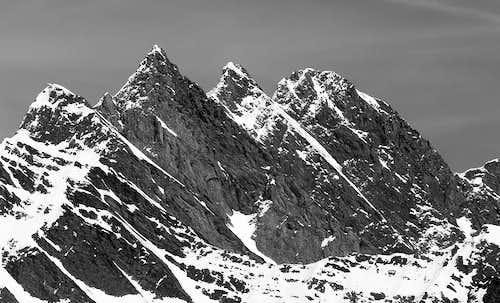 Il versante ovest della Grande Rochère (3326 m)