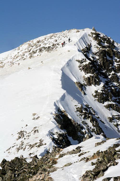 Final ridge towards the summit of Perdiguero